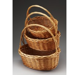 Set/3 Buff Color Willow Baskets