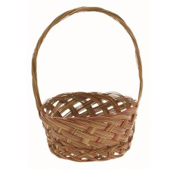 "10"" Round Coco Mid-Rib Handle Basket"