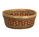 """Round Woodchip and Rope Container - 12"""" diameter"""