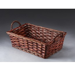 "16"" Willow Hamper; Brown Stain"