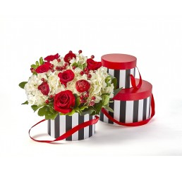 Water-Resistant Red/Black/White Round Set/3 Box (see note below)*