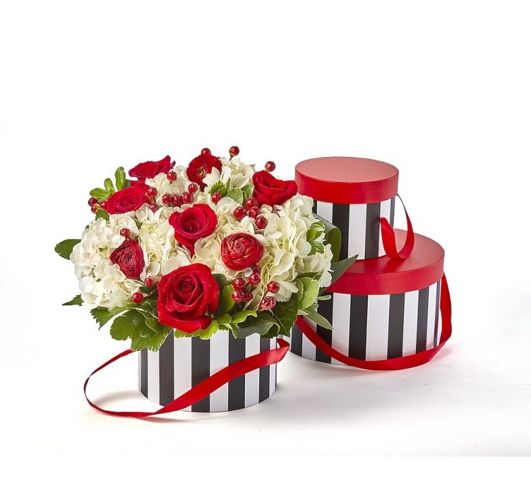 Water-Resistant Red/Black/White Round Set/3 Box (see note below)*
