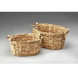 Set/2 Oval Hyacinth Container