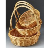 Buff Color Round Willow Set/3