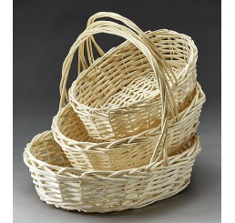 Set/3 Natural Oval Willow