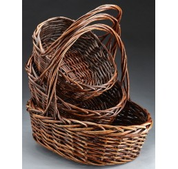 Oval Willow Set/3 - Brown Stain
