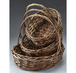 Unpeeled Oval Willow Set/3