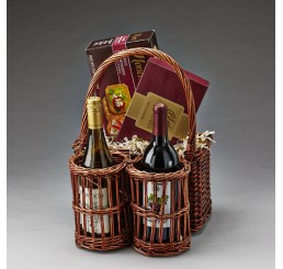 Brown Stain Willow Wine Caddy