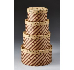 Set/4 Round Corrugated Box
