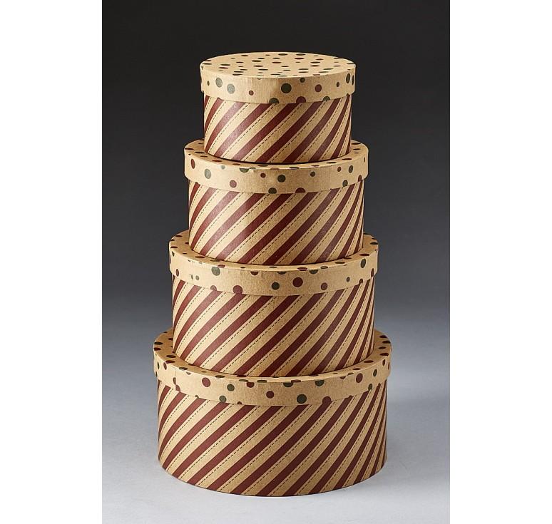 Set/4 Round Corrugated Box