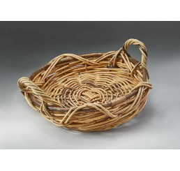 Indonesian Rattan Round Tray
