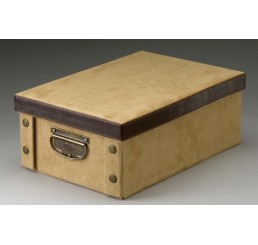 Tan Faux Suede Corrugated Collapsible Gift Box