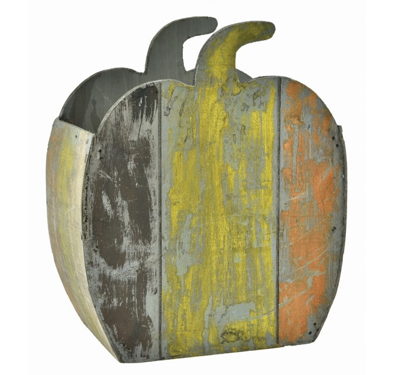 Wooden Pumpkin Container