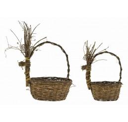 Vine Reindeer Basket Set/2