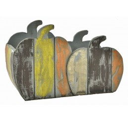 Double Wooden Pumpkin Container