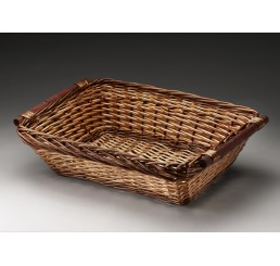 Willow Tray with Wooden Ear Handles
