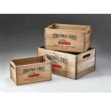 Set/3 Wooden Crate w/Metal Trim