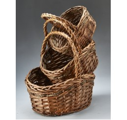 Set/3 Willow and Rope Baskets