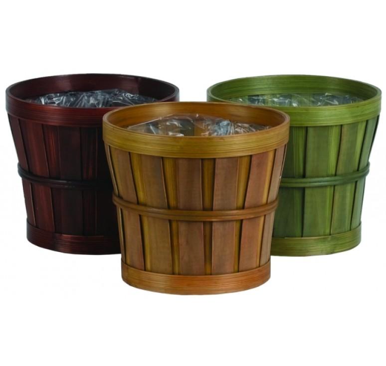 Round Woodchip Container