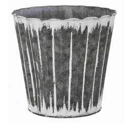 Distressed Finish Metal Pot Cover