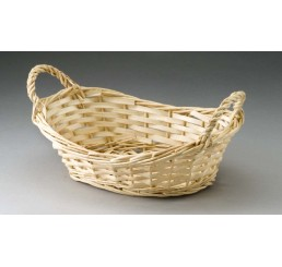 Natural Oval Tray with Ear Handles- Split Willow