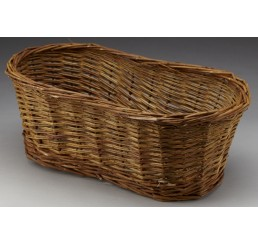 Oval Unpeeled Willow Container