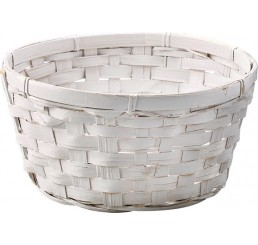 White Washed Bamboo Bowl - 12""