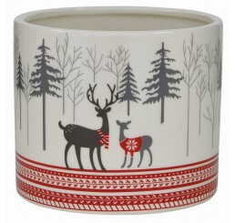 Round Ceramic Container