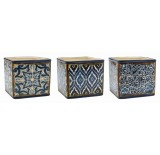 Blue Mosaic Design Ceramic Cubes