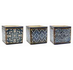 Blue Mosaic Design Ceramic Cubes