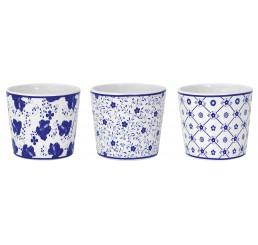 Blue & White Ceramic Containers