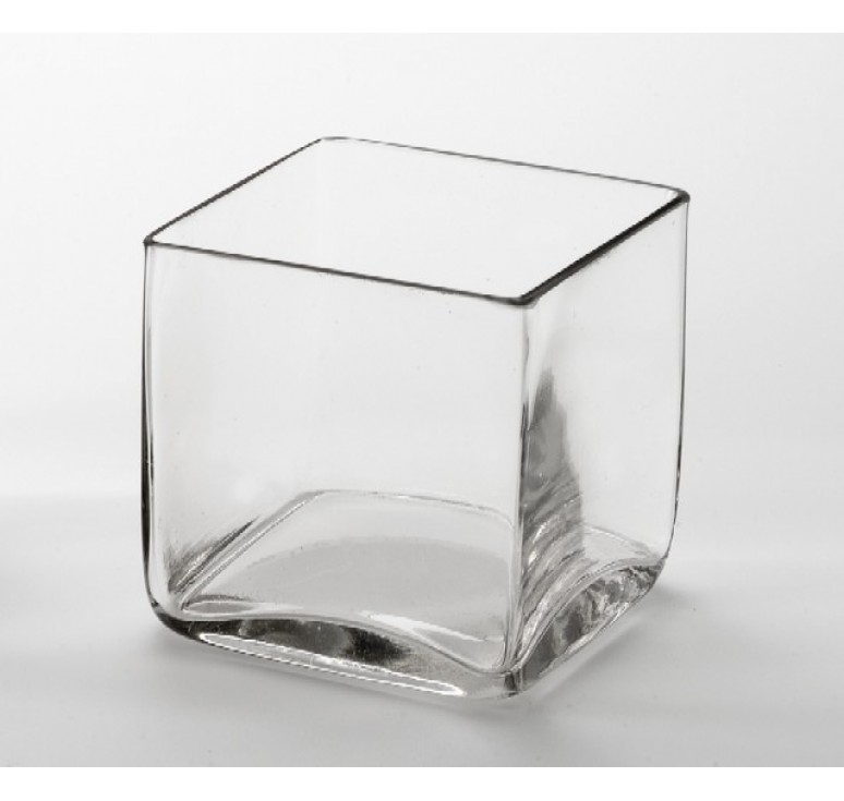 "5"" Pressed Glass Cube"