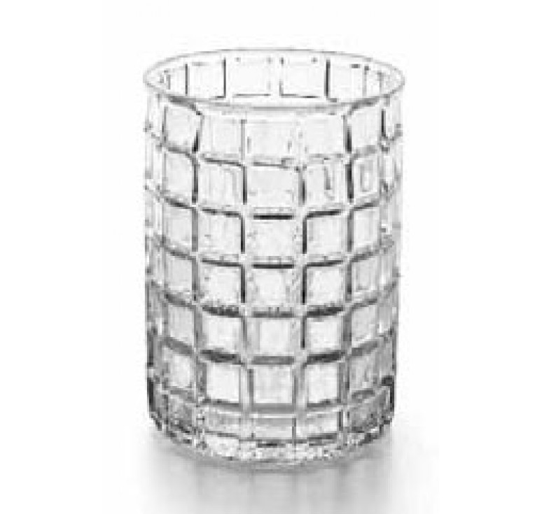 "Retro Design Glass Cylinder 5""W x 7""H"