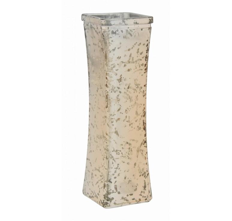 Glass Bud Vase - Gold Mercury