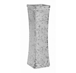 Glass Bud Vase - Silver Mercury