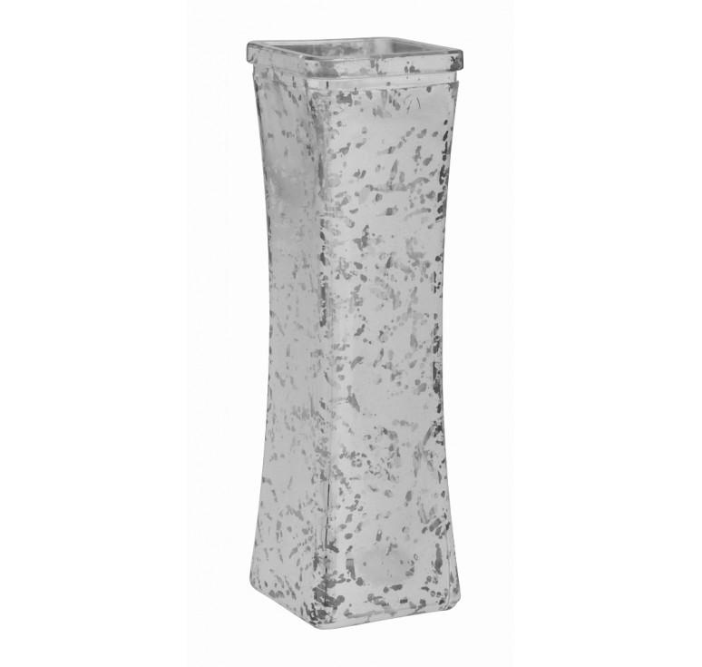 Glass Bud Vase - Silver Mercury