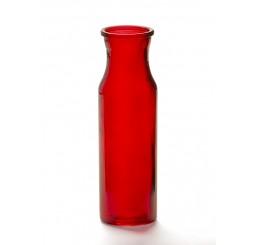 Red Glass Bud Vase