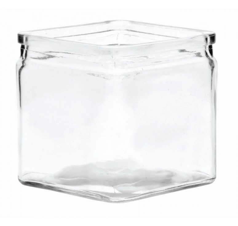 "4"" Machine Glass Cube"