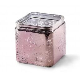Glass Cube - Pink Mercury