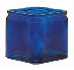 Glass Cube - Cobalt Blue