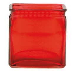 Glass Cube - Red
