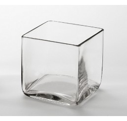 "4"" Pressed Glass Cube"