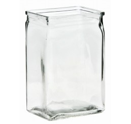 "6"" Tall Machine Glass Vase"