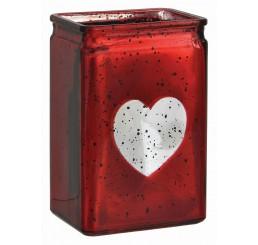 Red Mercury Rectangular Glass Vase
