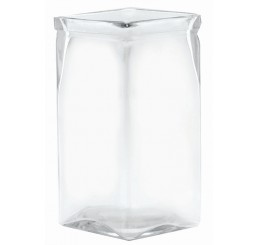 "8"" Tall Machine Glass Vase"