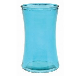 Colored Glass Vase - Caribbean Blue