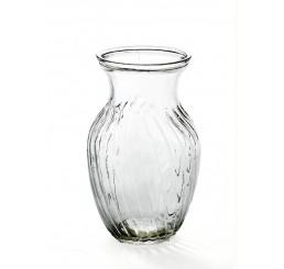 Swirled Glass Vase - Clear