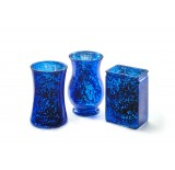 3 Assorted Shape Glass Vase - Blue Mercury
