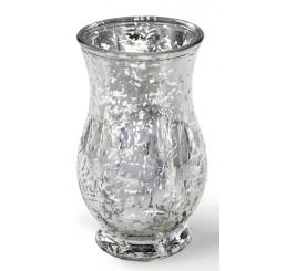 Regency Glass Vase - Silver Mercury