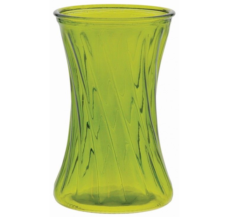 Glass Gathering Vase - Moss Green